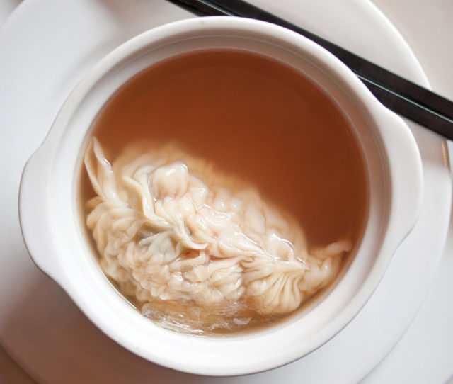 Shark fin soup with shrimp dumplings in Huangpu, Shanghai. Photo: Robert S. Donovan