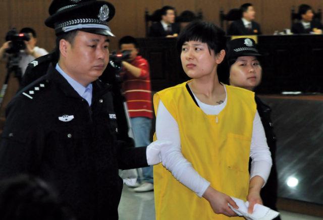 Wu Ying on trial. Source: Xinhua