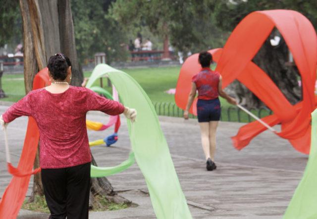 Dancing in a Beijing park. Photo: Hsing Wei