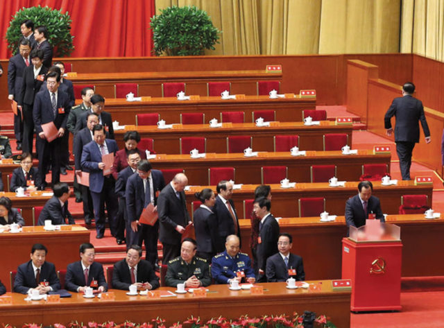 Delegates voting at the Congress. Source: Xinhua