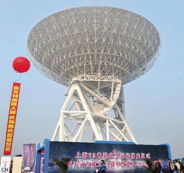 Asia's biggest radio telescope in Shanghai. Source: News.cn