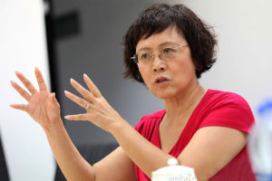 Hu Shuli is an influential Chinese business journalist and editor-in-chief of Caixin Media Photo: Weibo