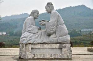 Stone sculpture of a filial son, Fenggang county, Guizhou province Source: gz.xinhuanet.com