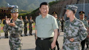 Chinese President and Chairman of the Central Military Commission Xi Jinping visits the troops in Fujian province, on 30 July 2014. The visit came just days before Army Day, which falls on 1 August and marks the founding of the People's Liberation Army (PLA) Photo: Li Gang/Xinhua