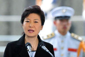 Park Guen-hye was sworn in as South Korea's first female president in 2013. She is the daughter of former South Korean President Park Chung-hee Source: 3news.co.nz