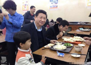 Xi Jinping eating a value meal subsequently dubbed the 'Chairman's Combo' Photo: Weibo