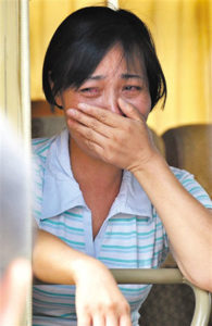 Tang Hui 唐慧, from Yong-zhou, Hunan province, was sentenced to one and a half years of labour re-education for demanding tougher punishment for those who allegedly raped and forced her daughter into prostitution. She was released eight days later following a huge public outcry Photo: backchina.com