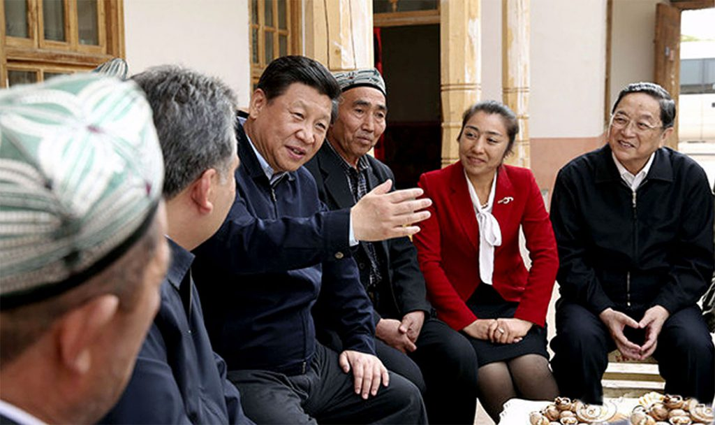 27–30 April 2014: Xi Jinping visits the Xinjiang Uyghur Autonomous Region where he vows to 'strike first' against terrorism Photo: Xinhua