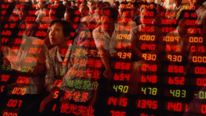 8 July 2015: The Shanghai stock index loses thirty-two percent from its peak Source: china_ask.com