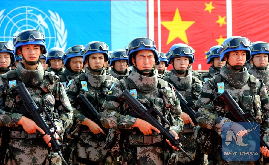 Chinese UN peacekeepers Photo: news.xinhuanet.com