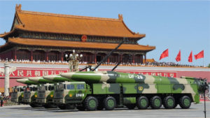 New DF-26 anti-ship ballistic missiles at the military parade on 3 September Image: janes.com
