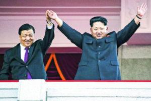Liu Yunshan in North Korea Photo: mingpaocanada.com