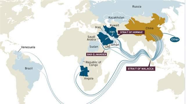 Malacca Strait shipping routes Photo: baike.baidu.com