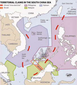 Map of China's nine-dashed line Image: en.wikipedia.org