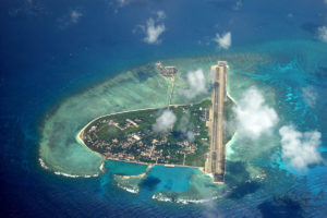 China's 'island building' in the South China Sea Photo: guancha.cn