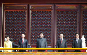 Xi and Putin attend the parade in Beijing to commemorate the seventieth anniversary of the 'World Anti-Facist War' (WWII) Photo: upload.icrosschina.com