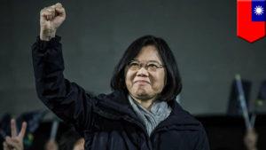 Victorious Tsai Ing-wen Photo: youtube.com